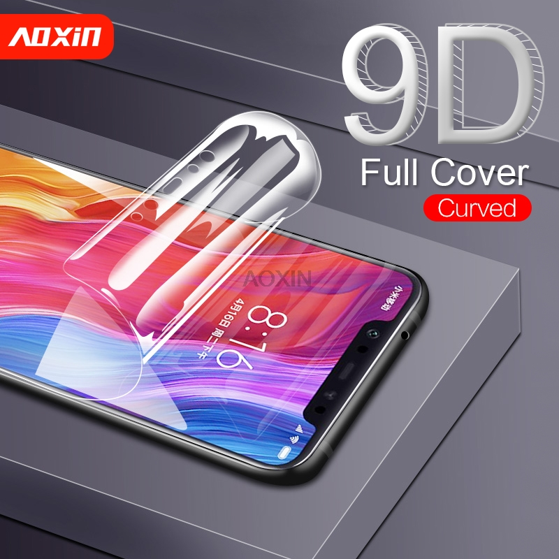 US $1 89 5% OFF|AOXIN 9D Full Cover Screen Protector For Xiaomi Mi 8 SE Mix  2 s Explorer Protective Film For Mi 8 se Soft PET Film ( Not Glass )-in