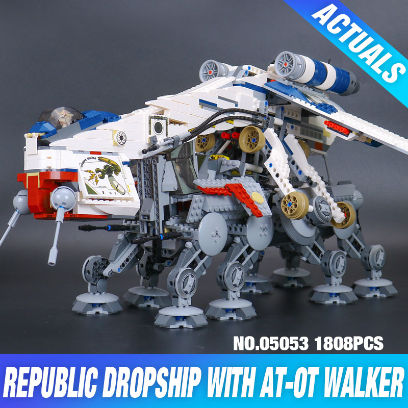 Lepin 05053 New 1788Pcs Genuine Star War Series The Republic Dropship Set Building Blocks Bricks Children
