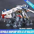 Lepin 05053 New 1788Pcs Genuine Star War Series The Republic Dropship Set Building Blocks Bricks Children Educational Toys 10195