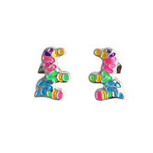 SANSUMMER 2019 Temperament Earrings Cute Childlike Color Horse Puppy New Fashionable Colourful Woman Jewelry Boucle