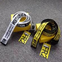 FR2 FXXKING RABBITS Belts 137cm Men Women Personality #FR2 Canvas Belt No Box Caution Logo