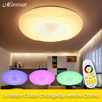 RGB LED ceiling lights fixtures for Bed room living roon Remote 36W led room light moder Lamp plafoniere balkon indoor light