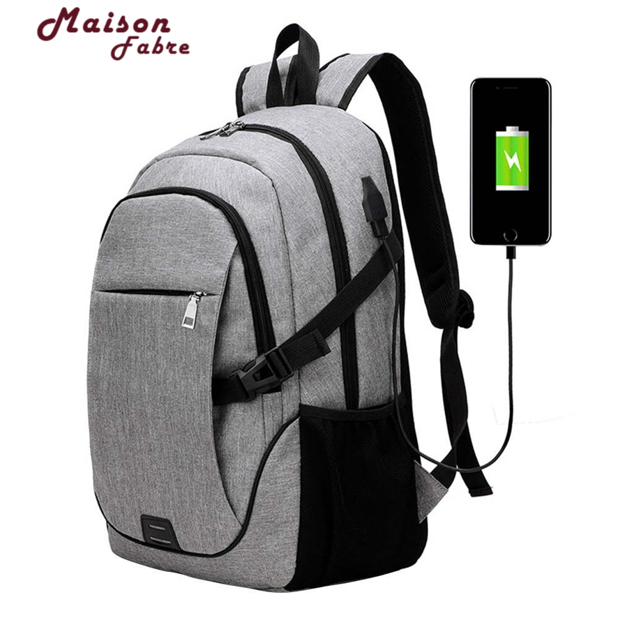 Business Laptop Backpack With USB Charging Port Anti Theft Lightweight Travel Bag 17 Laptop/Computer Free Shipping 1010#23