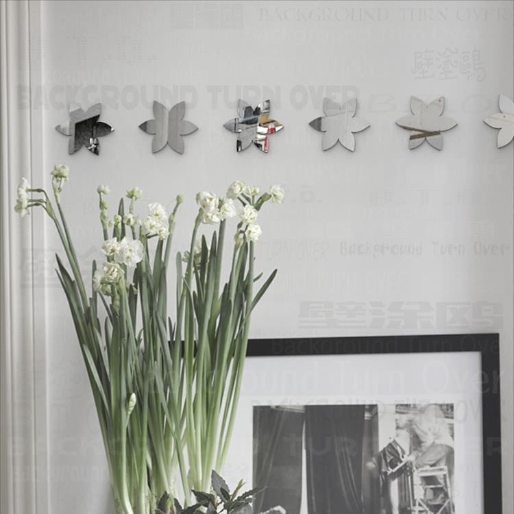 varios diy lindo flores extrable espejos decorativos de pared pegatinas para tienda de nios dormitorio