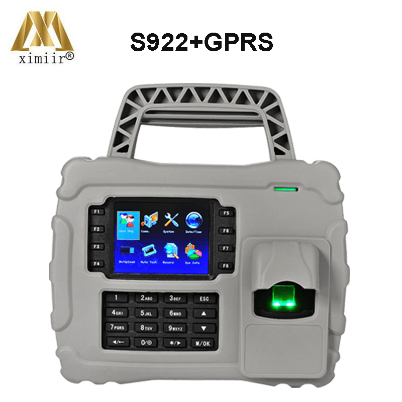 S922 Waterproof,dust Proof,shock Proof GPRS TCP/IP Fingerprint Time Attendance Optical Sensor Time Recording With Backup Battery