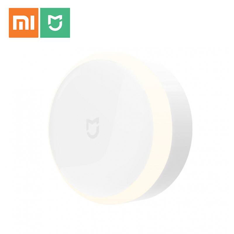 Original Xiaomi Mijia Night Light LED Corridor Infrared Remote Control Human Body Motion Sensor Xiaomi Smart Home Night Light xiaomi mijia yeelight portable led makeup mirror with light dimmable and smart motion sensor night light for xiaomi smart home
