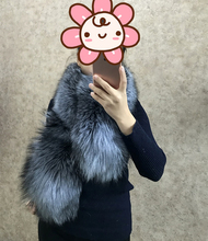 JIN LI DI ANG Women Real 100% Genuine  Fur Long Scarf elegant new arrivals fashion solid real fur scarves