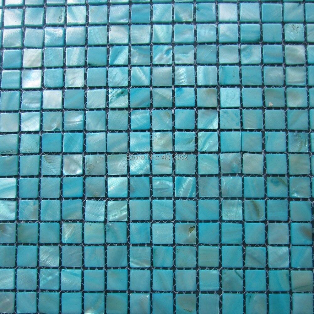 Extreem Blauw peer tegels Shell Mozaïek, decoratieve Parelmoer Tegels  TS08