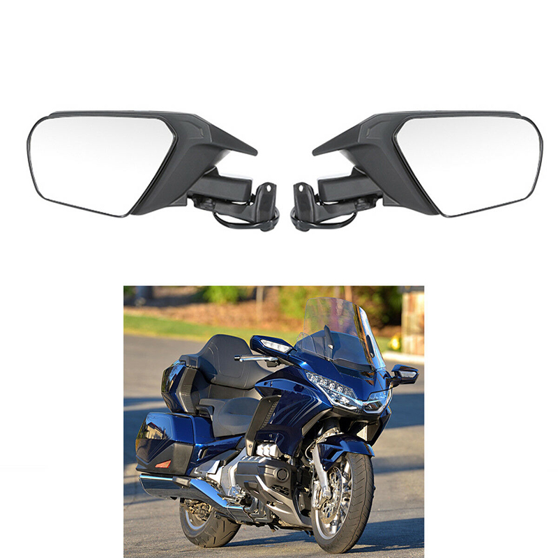 Blue Left Right Side Rear View Mirror Signal For Honda Goldwing GL1800 2001-2011