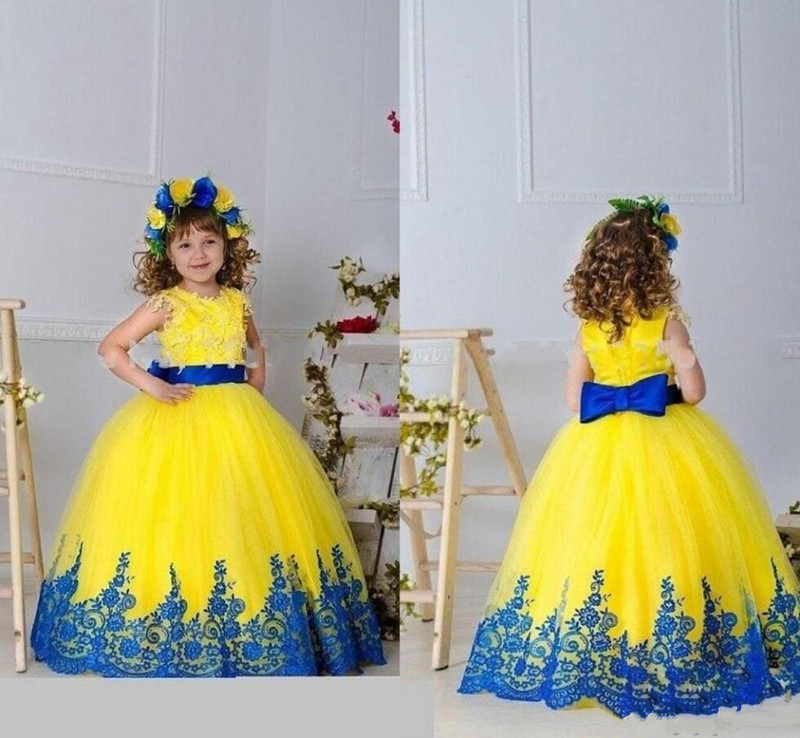 Gorgeous Ball Gown For Special Occasion Customized Flower Girl Dress with Appliques Belt Puffy Tulle Girls Pageant Gowns VestidoGorgeous Ball Gown For Special Occasion Customized Flower Girl Dress with Appliques Belt Puffy Tulle Girls Pageant Gowns Vestido