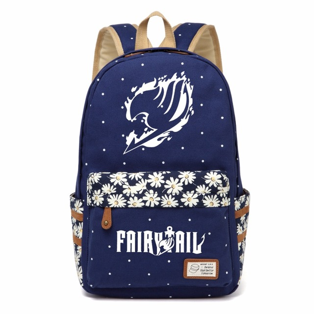 Fairy Tail Cosplay Backpack For Women Girls Cute Canvas Bag
