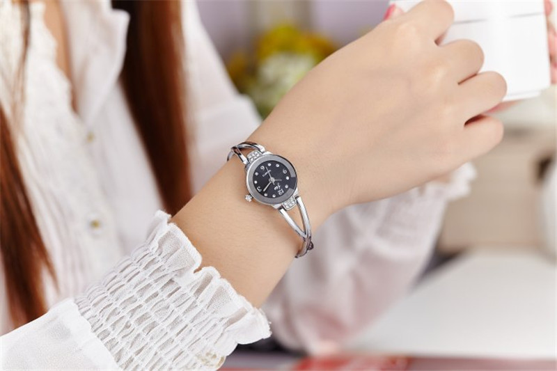 New Fashion Rhinestone Watches Women Luxury Brand Stainless Steel Bracelet watches Ladies Quartz Dress Watches reloj mujer Clock 10