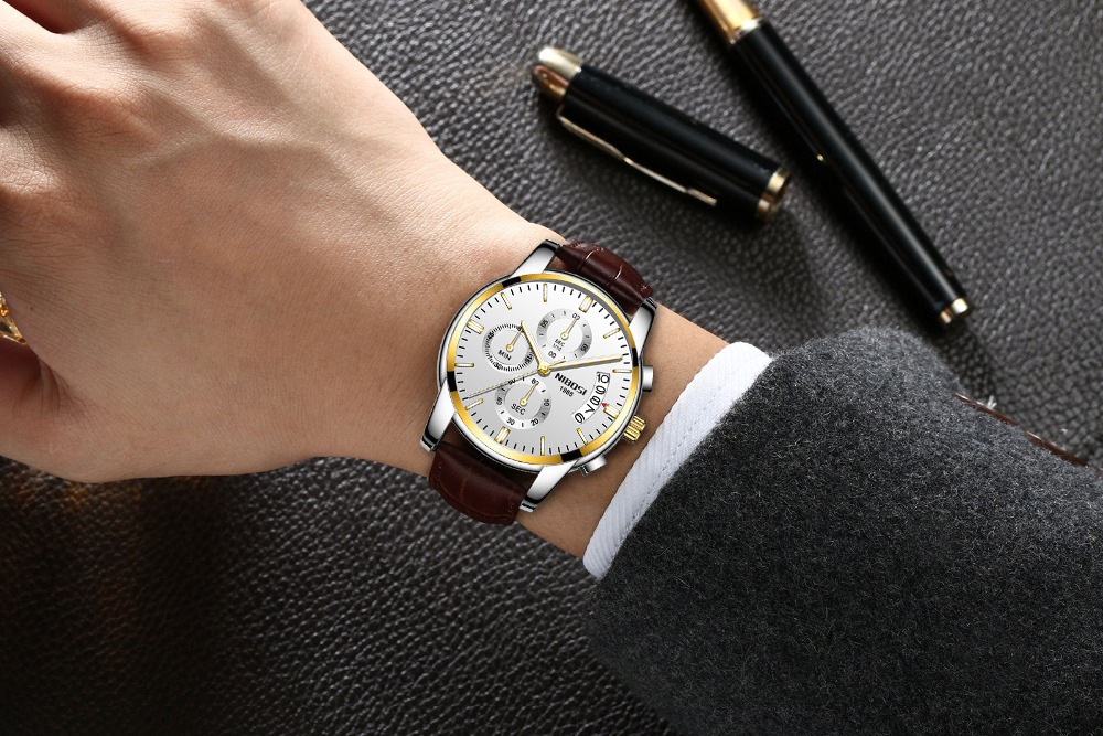 m-13 Montre à Quartz hommes d'affaires grand cadran