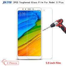 2Pcs/lot Tempered Glass For xiaomi Redmi 5 Plus 3GB kate Screen Protector smartphone 9H Toughened Protective HD film clear case