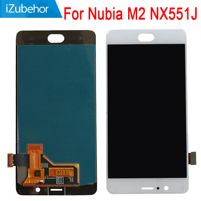 5.5 inch display screen For ZTE Nubia M2 <font><b>NX551J</b></font> LCD+touch screen digitizer Assembly 1080X1920 pixels free shipping image