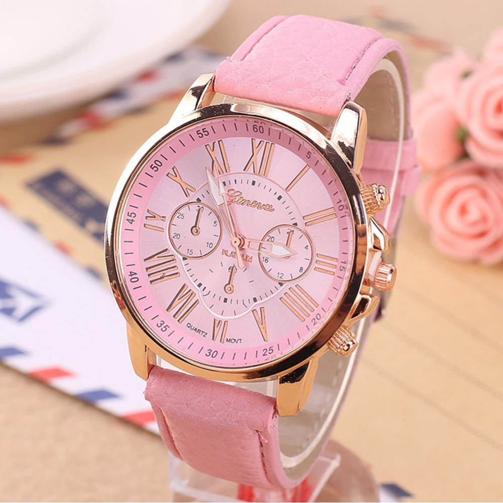 Geneva Watch Women Watches Reloj Mujer Dropship 2017 Casual Roman Numerals PU Leather Mechanical Clock excellent quality geneva watch women watches reloj mujer dropship 2017 casual roman numerals pu leather mechanical clock luxury