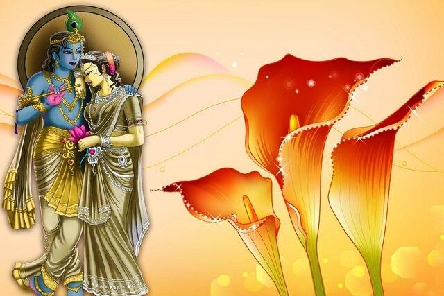 lord radha krishna and flowers god godness fantasy JZK924 Living ...