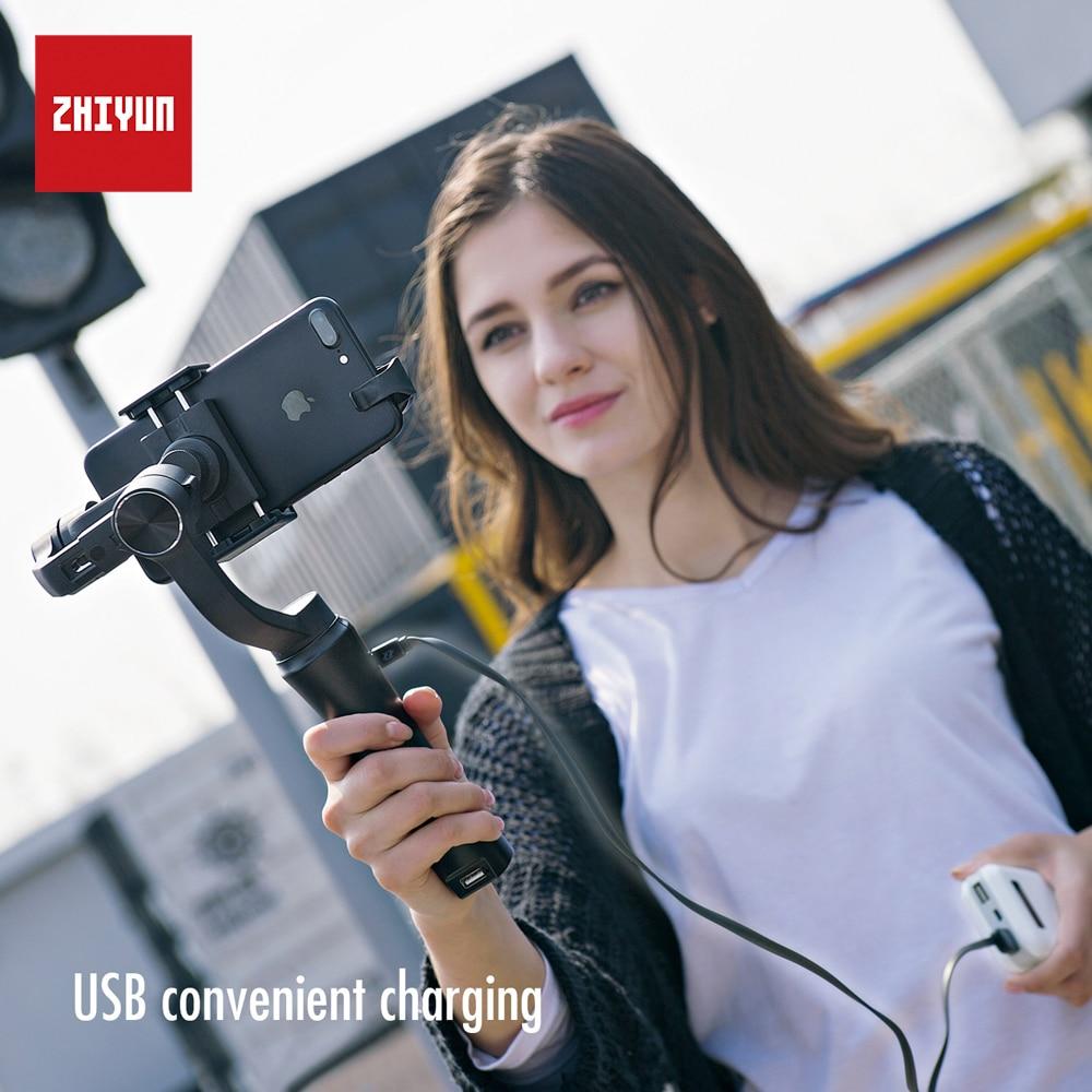Zhi yun Zhiyun Offizielle Glatt Q Handheld Gimbal stabilizer 3-achsen Smartphone Stabilisator für iPhone Samsung Huawei Xiaomi