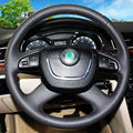 Hand-stitched Black Leather Steering Wheel Cover for  Skoda Octavia Octavia a5 a 5 Superb 2012-2013