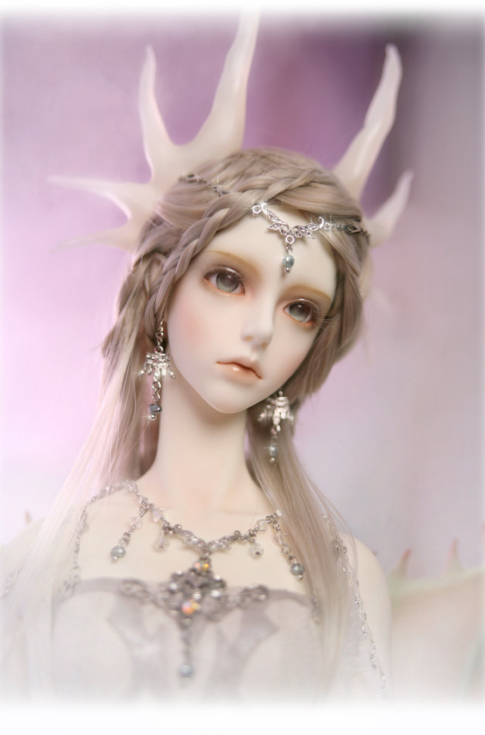 1 / 3o escala 65 cm muñeca BJD nude con maquillaje, SD muchacha de la muñeca nep