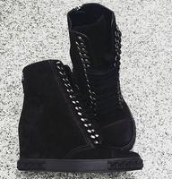 Новая мода круглый носок на шнуровке увеличивающие рост каблук Повседневная обувь белые кожаные Для женщин цепи вулканическая обувь Римск