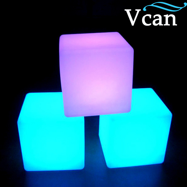 ФОТО 100% waterproof white red 16colours control led cube seat chair 20cm 30cm 40cm  VC-A300