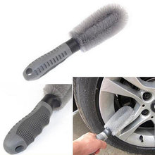 1PCS High Quality Wash Tool Washing Brush Auto Car Motorcycle Tire Brush Dust Clean Cleaning Wheel For All Vehicle Free Shipping