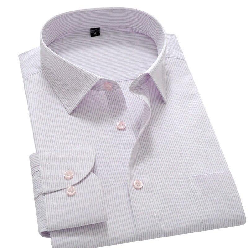 ee0f0ae129a2 Men's Casual Shirts Men's Wing Collar Men Long Sleeve Shirt Formal Business  Work Stripe Shirt Mens Wedding Shirt 1 Piece ~ Best Seller July 2019