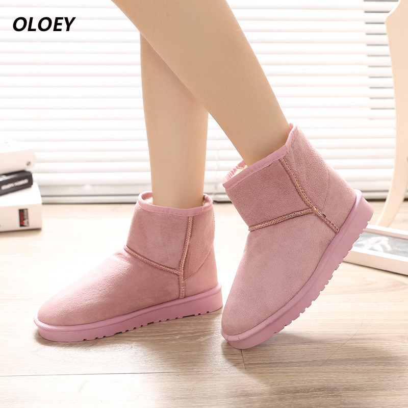 shoes woman Autumn and winter new anti-skid short boots snow boots fuselage thick plus cashmere boots warm shoes women's shoes kelme 2016 new children sport running shoes football boots synthetic leather broken nail kids skid wearable shoes breathable 49