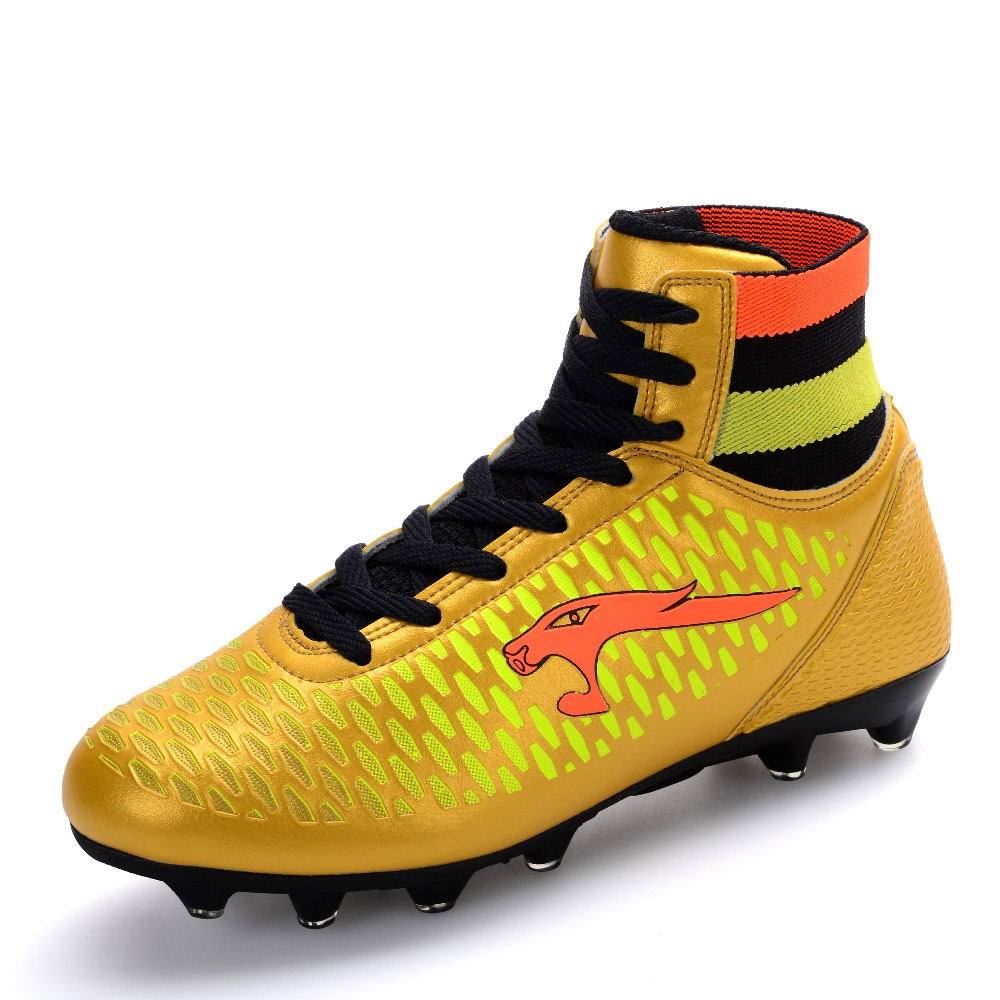 Men Football Boots High Top Kids Children Soccer Shoes Long Spike Cheap  Wholesale lights weight Cleats Trainers Size 33 46-in Soccer Shoes from  Sports ...