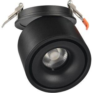 Image 5 - 85 265Vac eingang 3W zu 12W LED embedded unten lampe, faltbare und drehbare COB hintergrund dimmbare decke Korridor spot licht