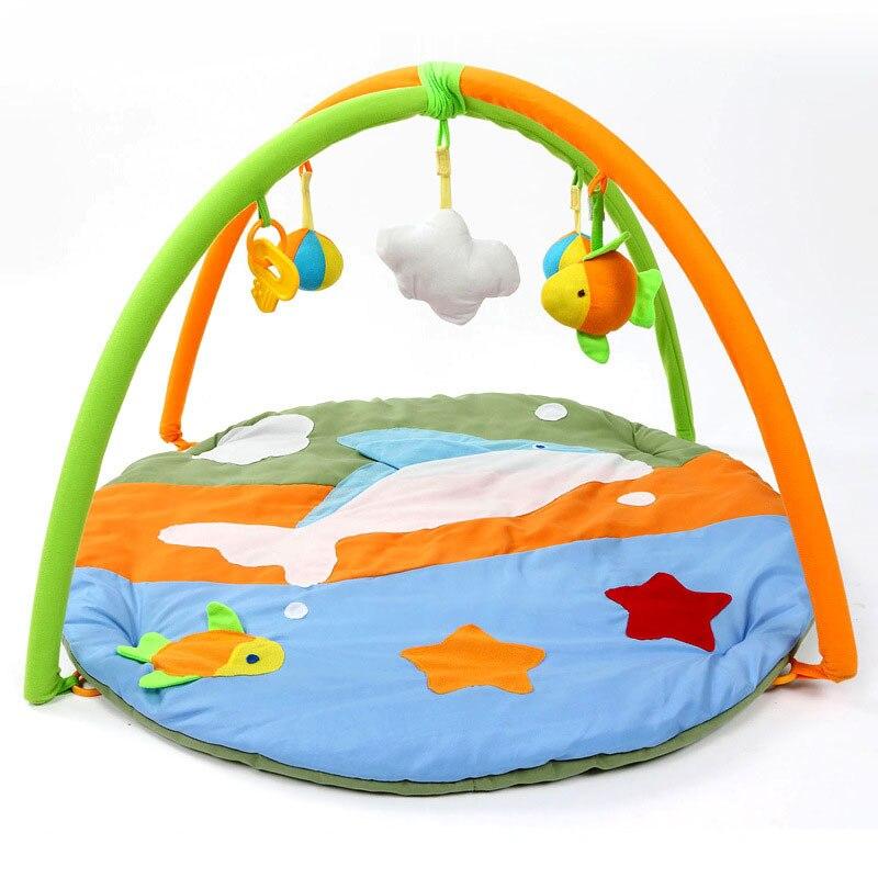 Baby Play Mats Lovely Dophin Game Toys Blanket For Kids Educational Crawling Gym Cartoon Blanket Carpet Children Rug