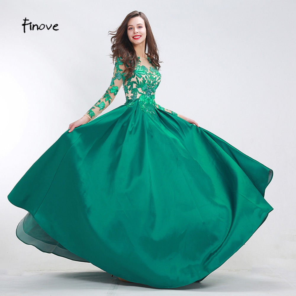 Finove Green Prom Dresses Girls 2018 New Fashionable Elegant ...