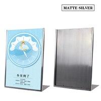 Linliangmuyu金属a3 pop広告ポスターデスクトップディスプレイラック用メニューサインポスター展示スタンドフレームラベルホル