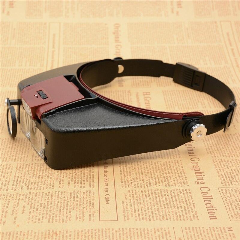 Estilo Capacete Lupa Headband Lupa Óculos de Leitura ou Uso de Reparação
