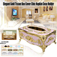 Elegant European Style Tissue Box Cover Chic Napkin Paper Case Holder Hotel Home Decor Organizer Room KTV Supplies Furnishing