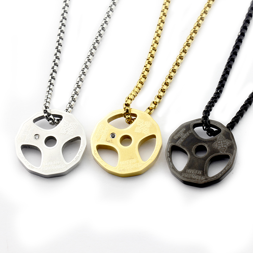 Barbell Charm Necklace