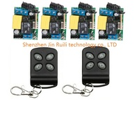RF AC 220 V 1 CH 10 A Wireless remote control switch System 2 piece Transmitter +4 piece Receiver for Access/door System