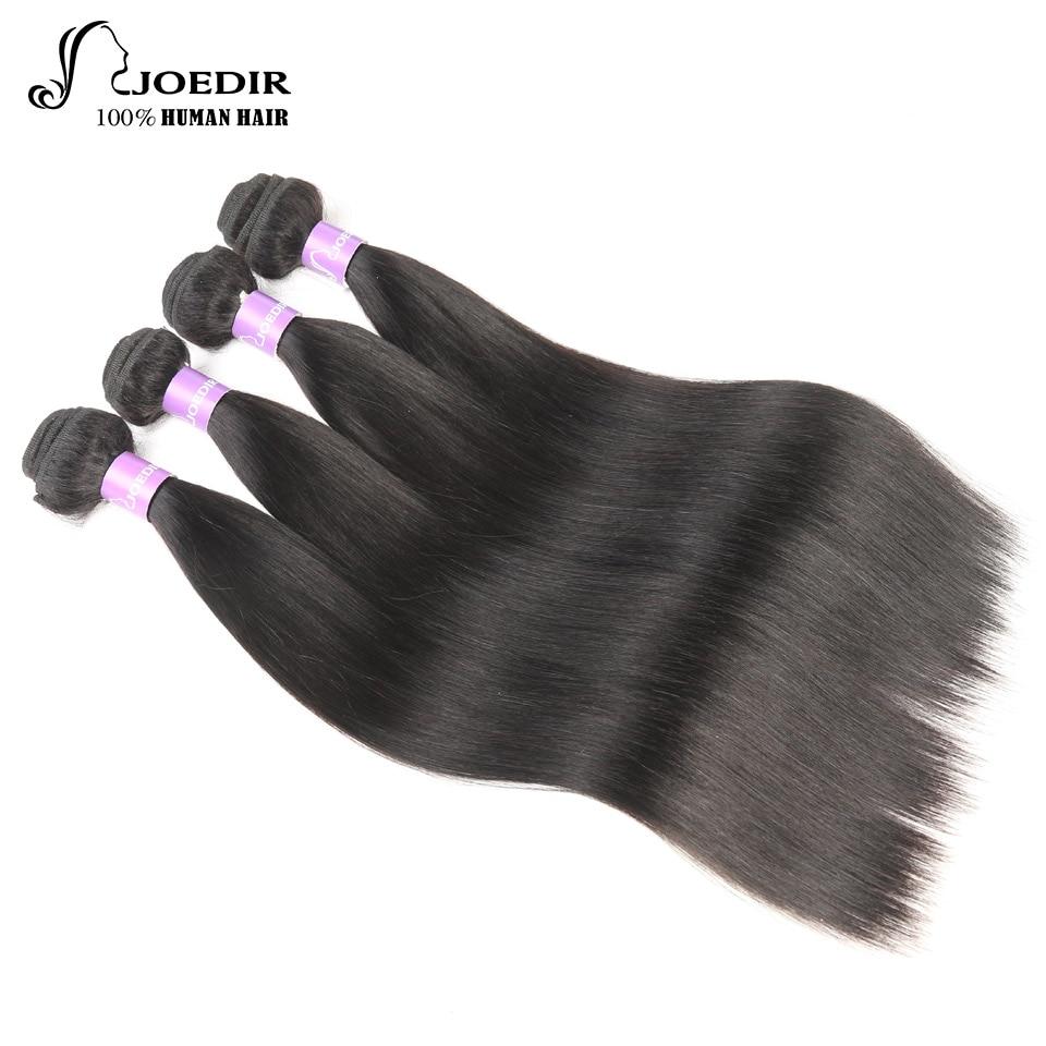 Joedir Hair Bundles Peruvian Straight Hair Bundles With Closure 100% - Skönhet och hälsa - Foto 4