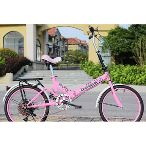 hot style 20 inch dazzle colour change single speed shock absorbing light students bicycles folding bike