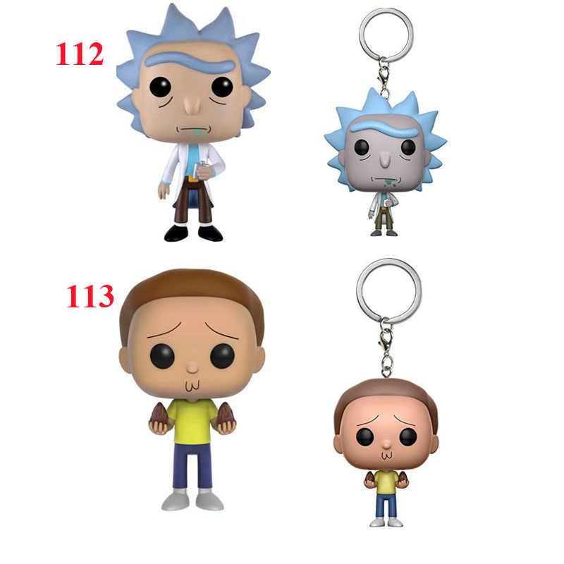 Rick e Morty 10 CM PVC action Figure Modelo Coleção figuras de Animação Brinquedo vinly Rick chaveiros para presente de natal para crianças