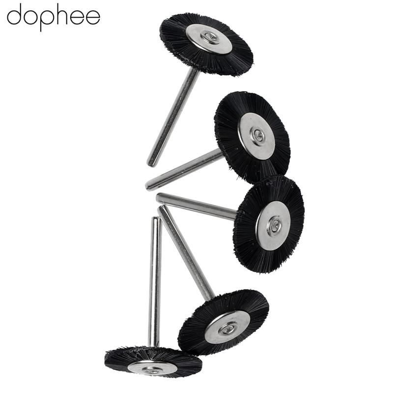 Image 3 - dophee 5PCS Dremel Accessories 3MM Shank Flat Nylon Bristle Wheels Brush Buffing Polishing Brush Wheel for Dremel Rotary Tools-in Abrasive Tools from Tools