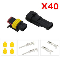 40 Kits 2 Pin Way Male & Female Waterproof Electrical Wire Connector Plug Best Quality
