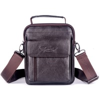 CHEER SOUL Genuine Leather Small Crossbody Shoulder Bags for Men Belt Waist Bag Mobile Phone Messenger Bags Male Square Handbag
