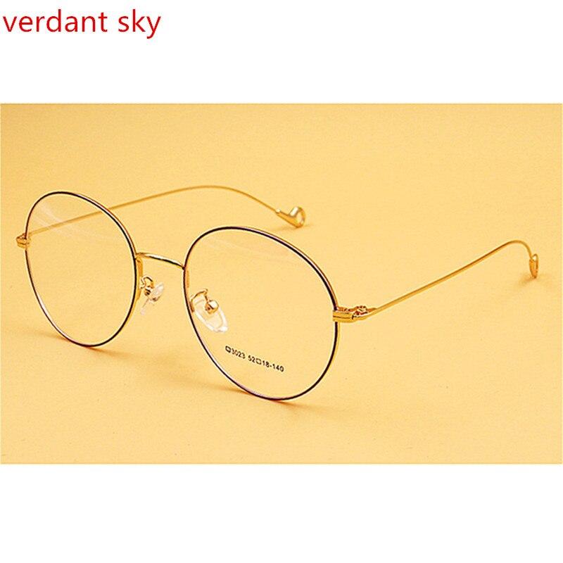 2017 Óculos Homens Do Vintage Redonda Pequena de Metal Armações de Óculos  de Olho para As Mulheres Óculos de Prescrição oculos de grau de Vidro  Óptico em ... d18fd74dbb