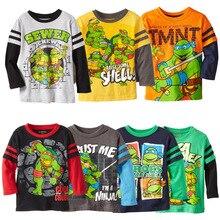 2016 Teenage Mutant Ninja Turtles Boys T-shirt Cartoon Children Long Sleeve Tshirt Tops Cotton Spring Autumn Kids Shirt Clothes