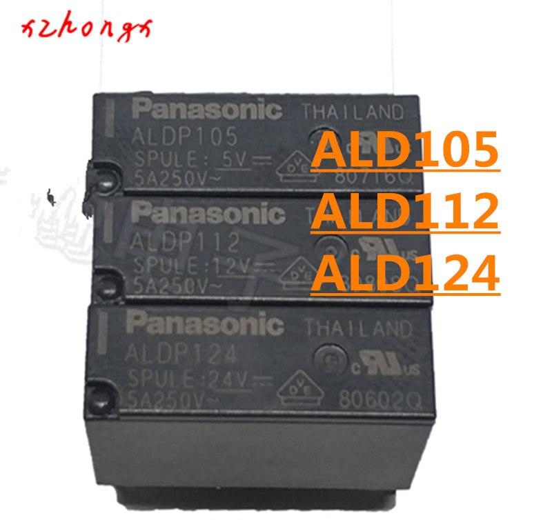 New ALD105 ALD105W ALD112 ALD112W ALD124W ALD124 4PINS 3A 5V 12V 24V Power Relay