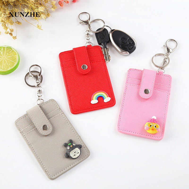 XUNZHE Storage Bags PU leather Cartoon Style Badge Holder High Quality Bank/Subway/Bus/ID Cards Plastic Card Sets