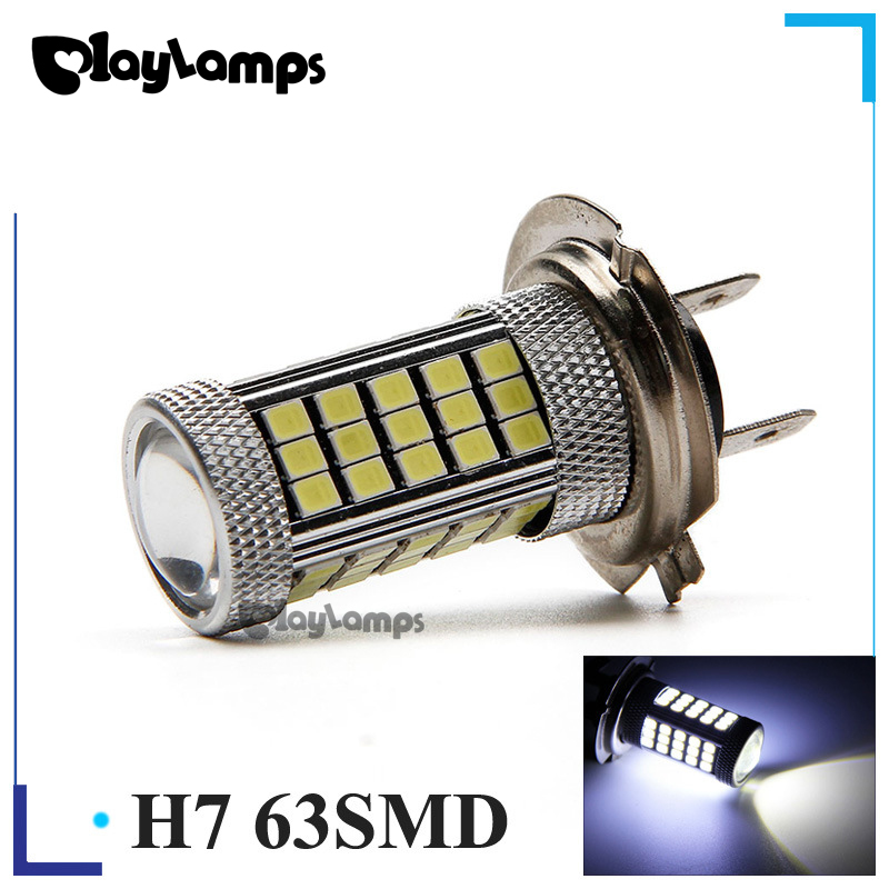 10x LED CANBUS anti fog LED light hot new high power H7 2835 63SMD car auto led daytime running lamp driving bulb for DC 12V h1 super bright white high power 10 smd 5630 auto led car fog signal turn light driving drl bulb lamp 12v