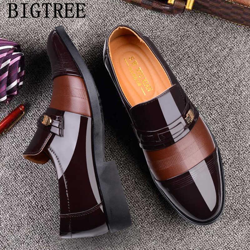 ชุดแต่งงานอย่างเป็นทางการรองเท้าผู้ชาย loafers slip on men รองเท้าธุรกิจรองเท้าผู้ชาย oxford หนัง zapatos hombre vestir